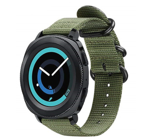 Strap-it® Strap-it® Samsung Gear Sport nylon gesp band (groen)