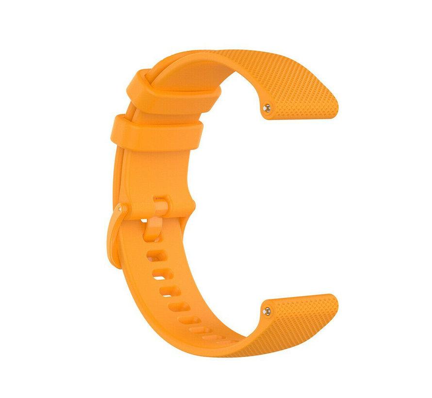 Strap-it® Garmin Vivoactive 4s silicone band - 40mm - oranje