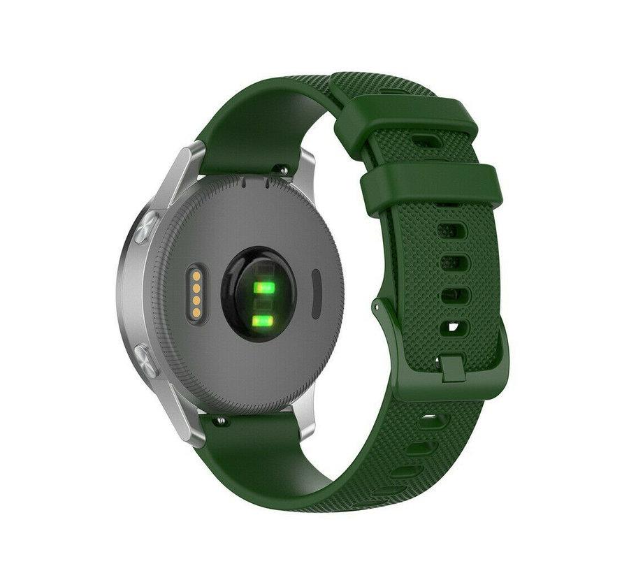 Strap-it® Garmin Vivoactive 4s silicone band - 40mm - legergroen
