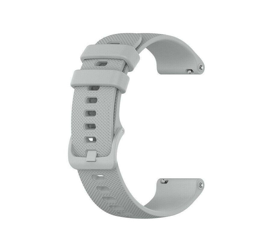Strap-it® Garmin Vivoactive 4s silicone band - 40mm - grijs