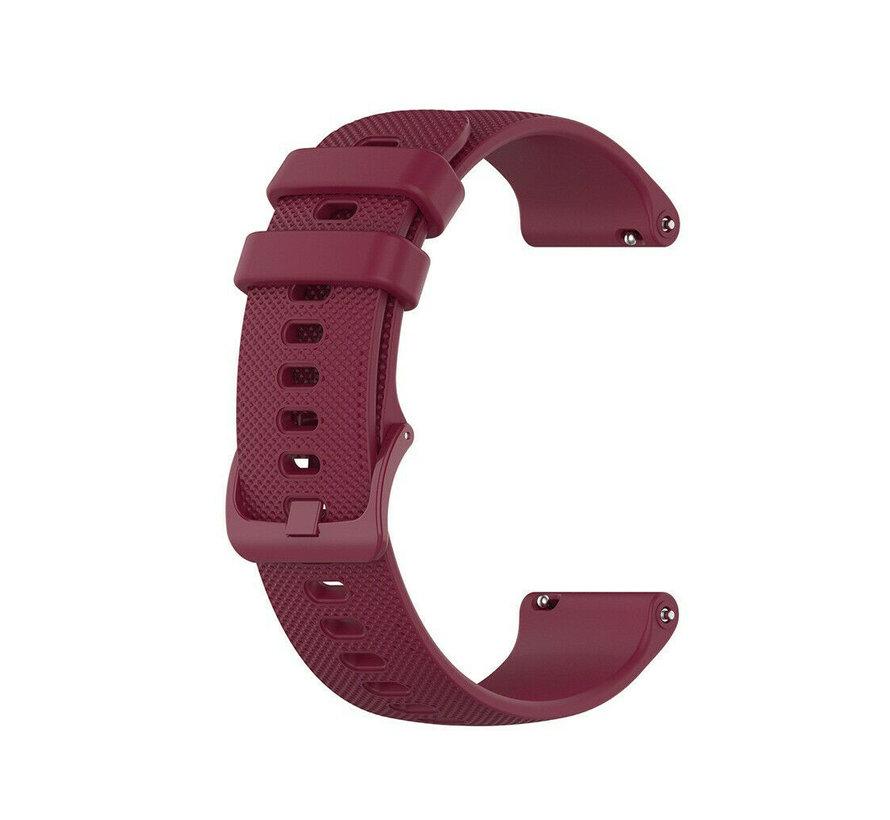 Strap-it® Garmin Vivoactive 4s silicone band - 40mm - donkerrood