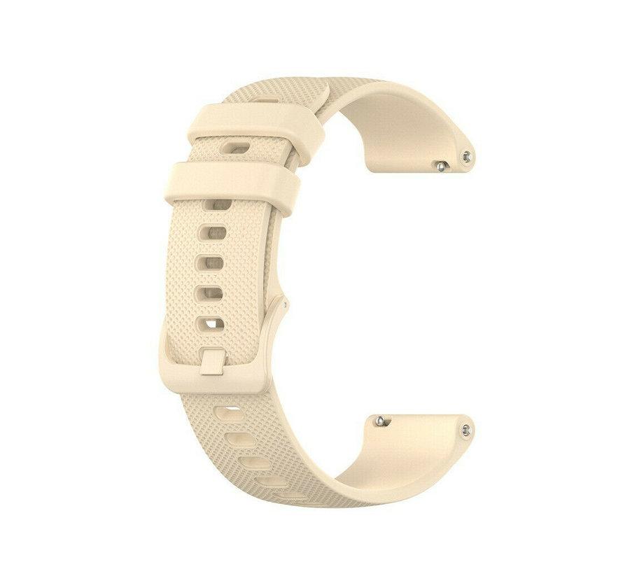 Strap-it® Garmin Vivoactive 4s silicone band - 40mm - beige