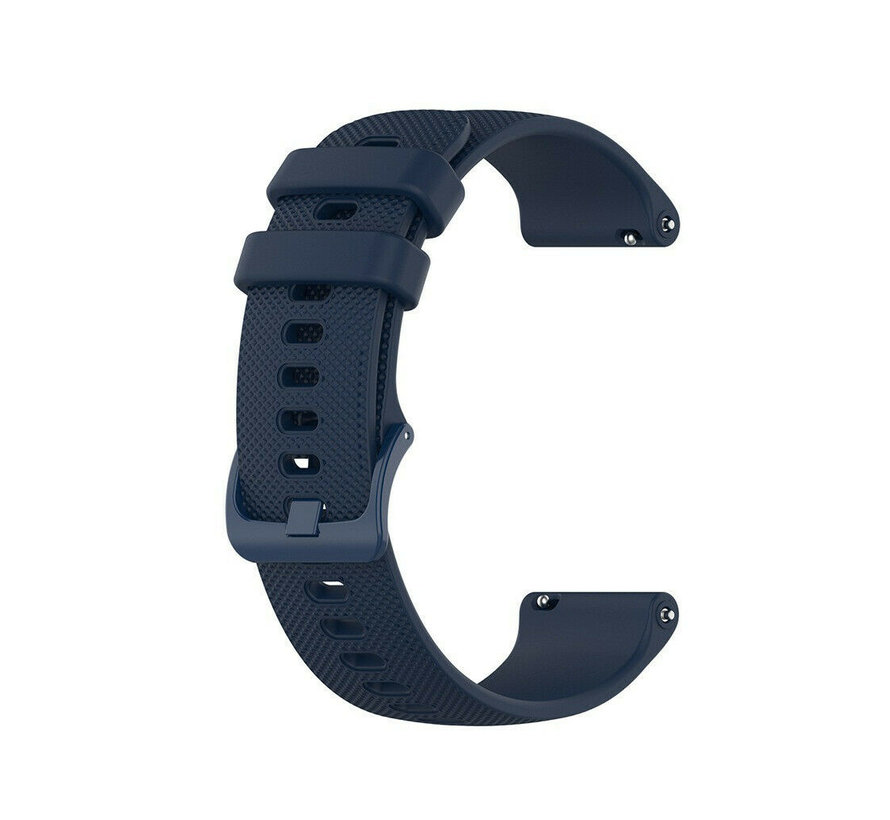 Strap-it® Garmin Vivoactive 4s silicone band - 40mm - donkerblauw