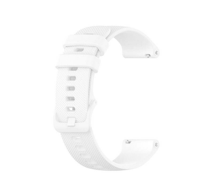 Strap-it® Garmin Vivoactive 4s silicone band - 40mm - wit
