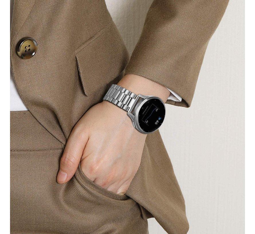 Strap-it® Garmin Vivoactive 4s stalen band - 40mm - zilver