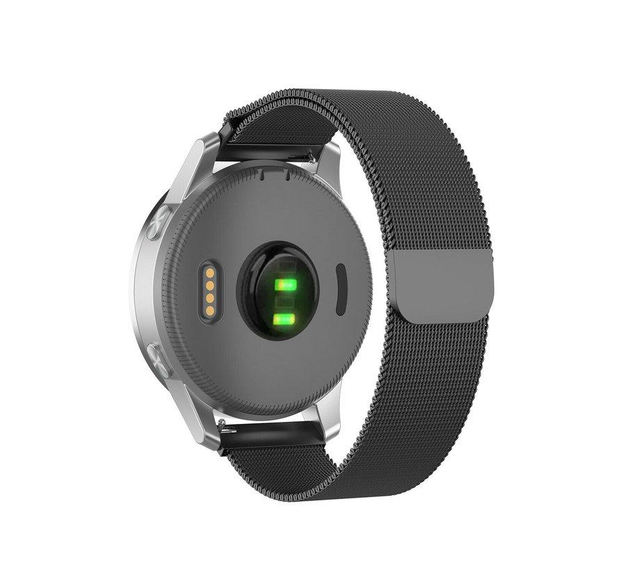 Strap-it® Garmin Vivoactive 4s Milanese band - 40mm -zwart