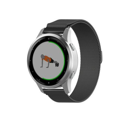 Strap-it® Strap-it® Garmin Vivoactive 4s Milanese band - 40mm -zwart