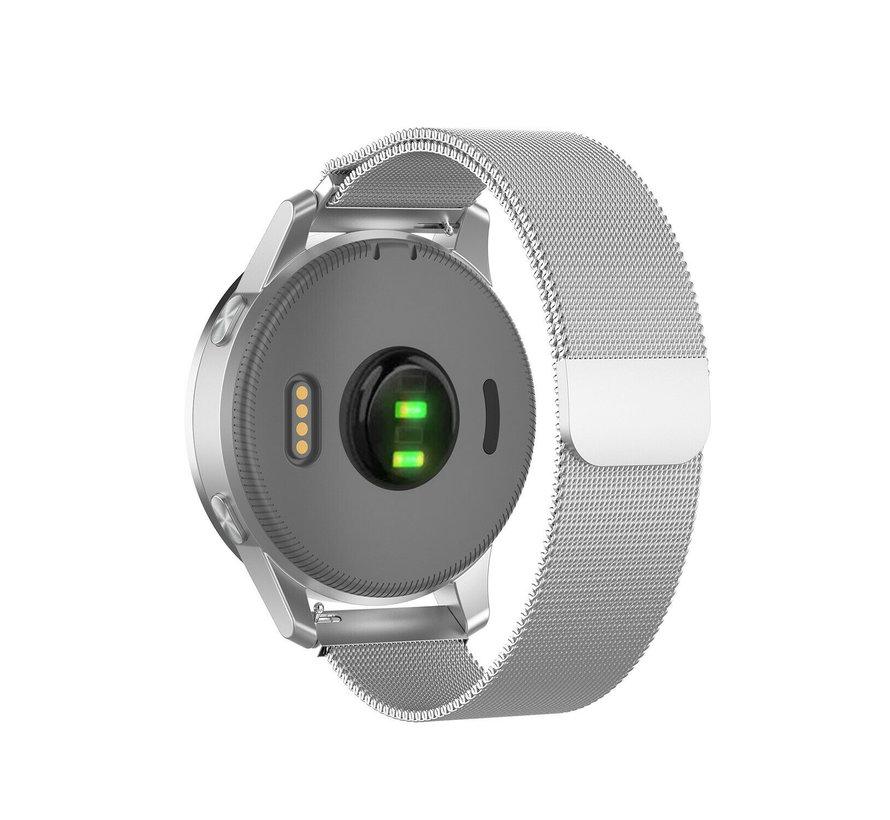 Strap-it® Garmin Vivoactive 4s Milanese band - 40mm -zilver