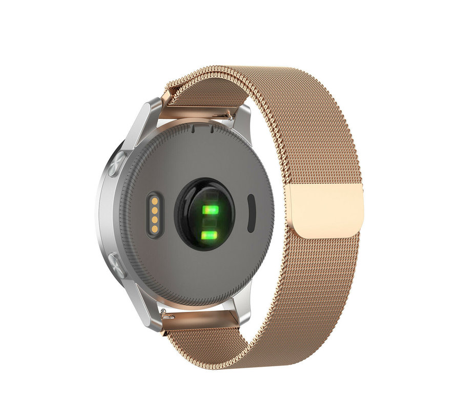 Strap-it® Garmin Vivoactive 4s Milanese band - 40mm - rosé goud