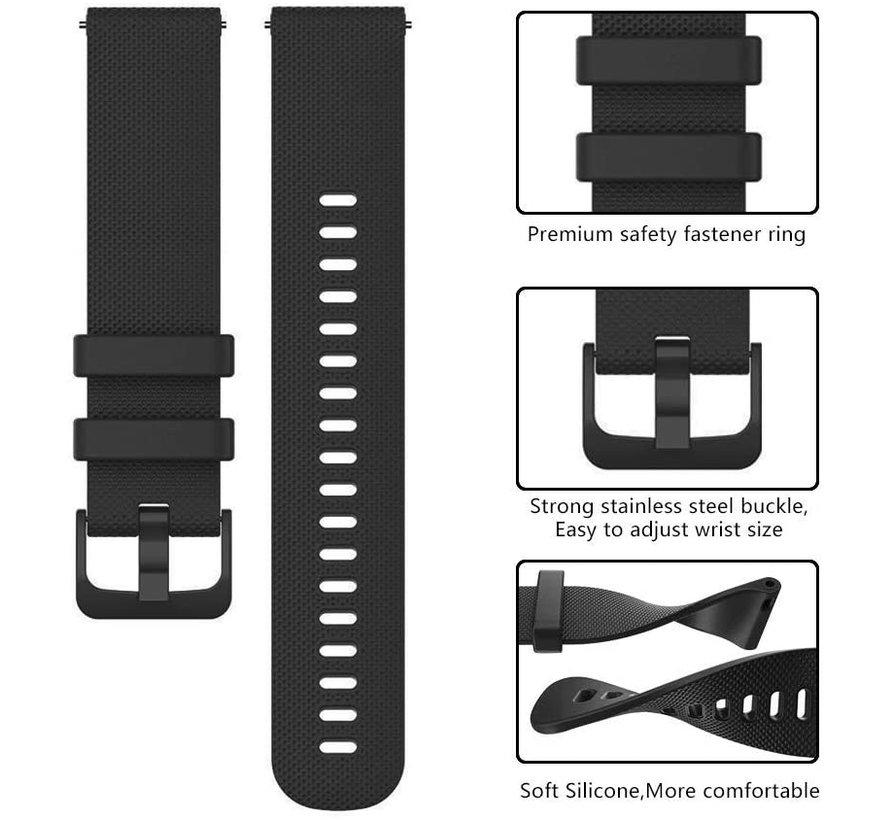 Strap-it® Garmin Vivomove 3s silicone band - 39mm - zwart