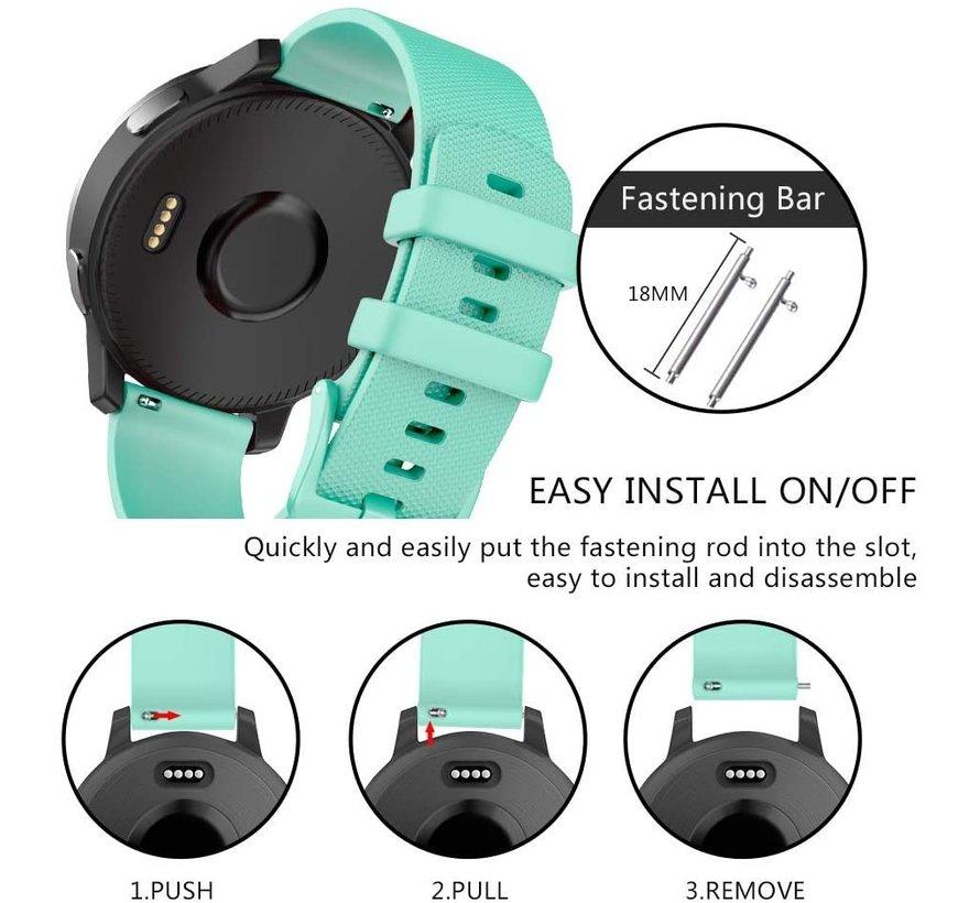 Strap-it® Garmin Vivomove 3s silicone band - 39mm - aqua