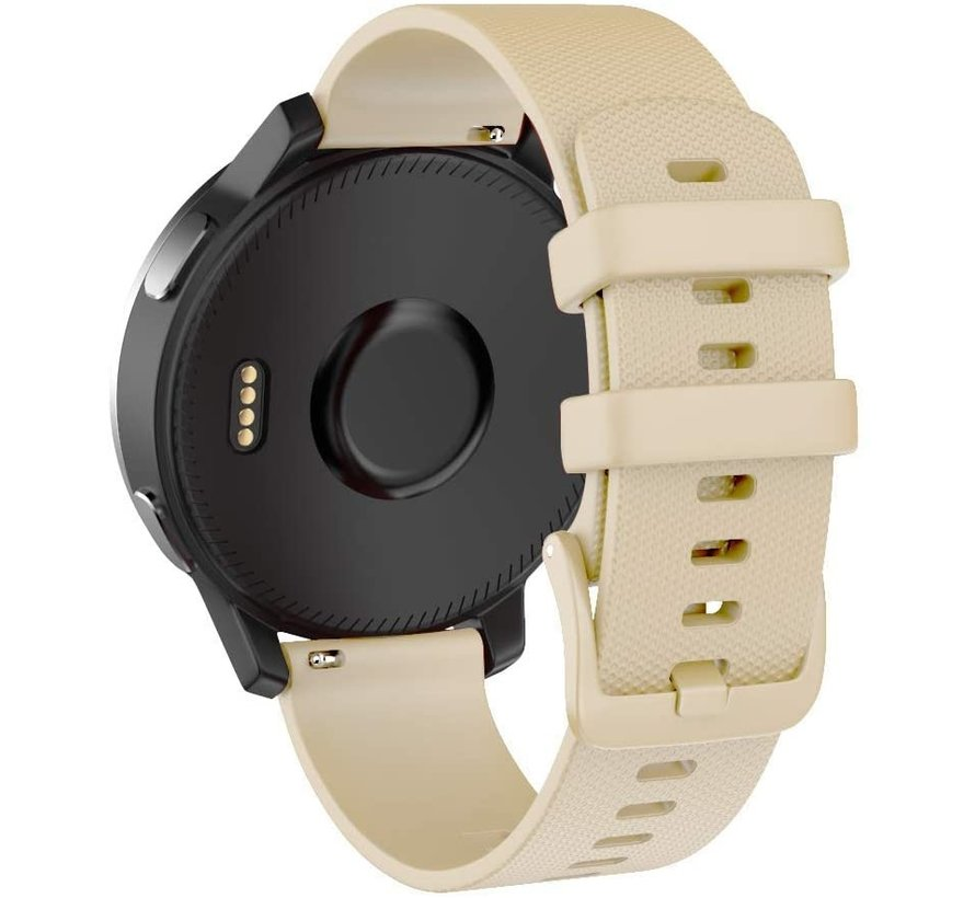 Strap-it® Garmin Vivomove 3s silicone band - 39mm - beige