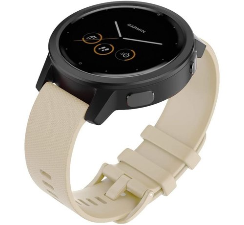 Strap-it® Strap-it® Garmin Vivomove 3s silicone band - 39mm - beige