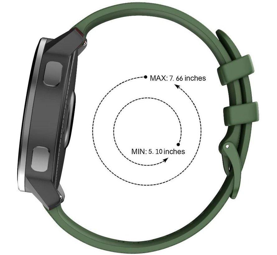 Strap-it® Garmin Vivomove 3s silicone band - 39mm - legergroen