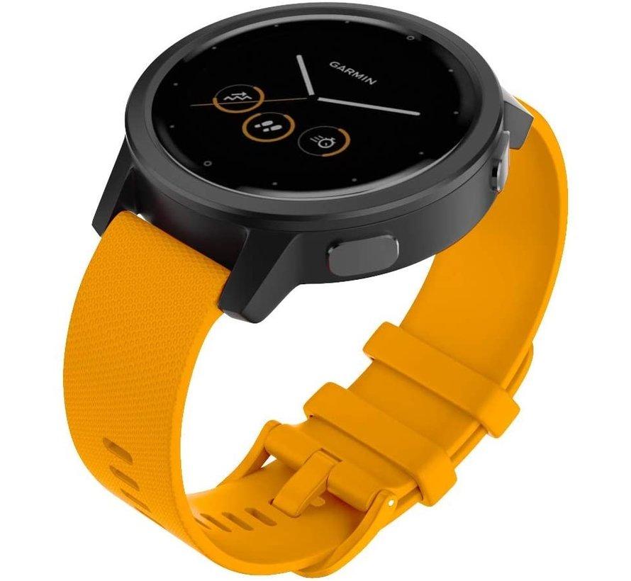 Strap-it® Garmin Vivomove 3s silicone band - 39mm - oranje