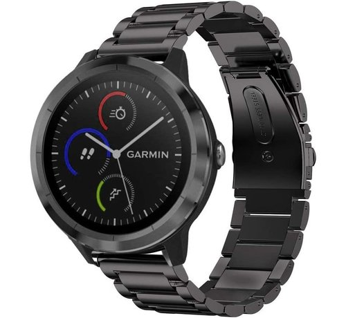 Strap-it® Strap-it® Garmin Vivomove 3s stalen band - 39mm - zwart