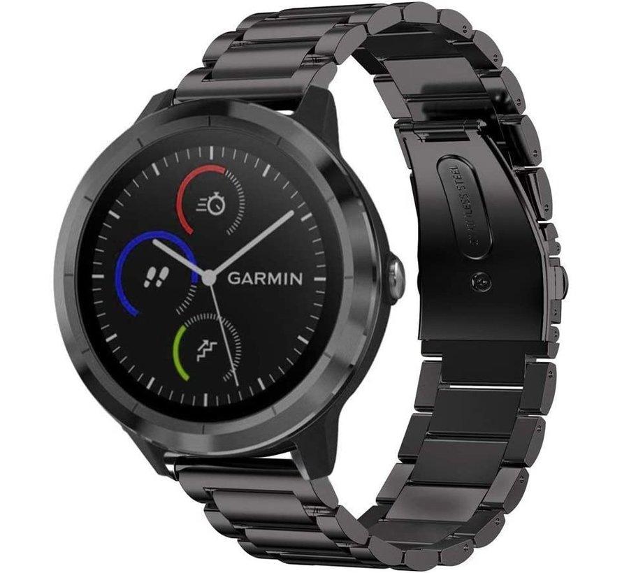 Strap-it® Garmin Vivomove 3s stalen band - 39mm - zwart