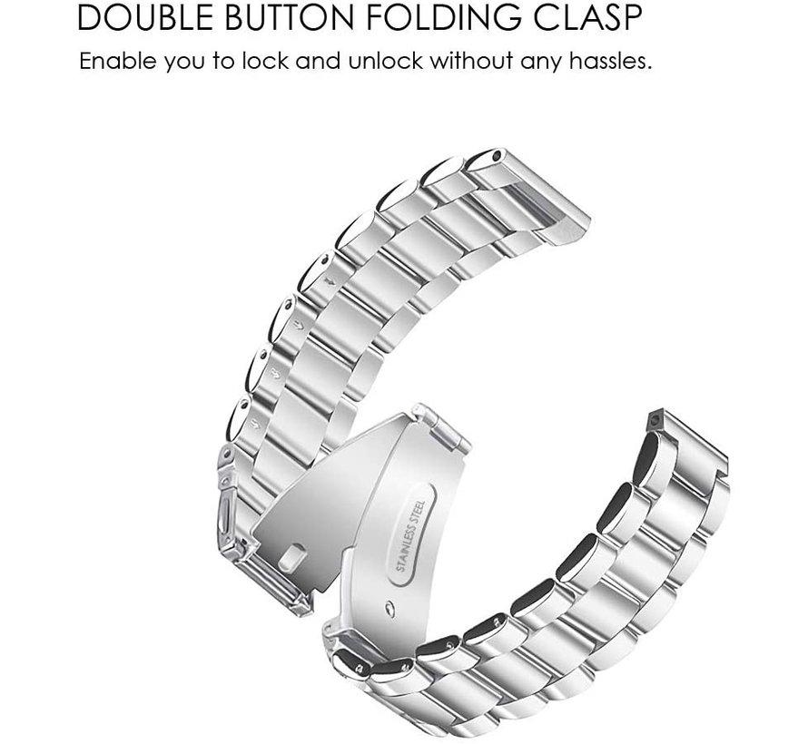 Strap-it® Garmin Vivomove 3s stalen band - 39mm - zilver