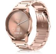 Strap-it® Garmin Vivomove 3s stalen band - 39mm - rosé goud