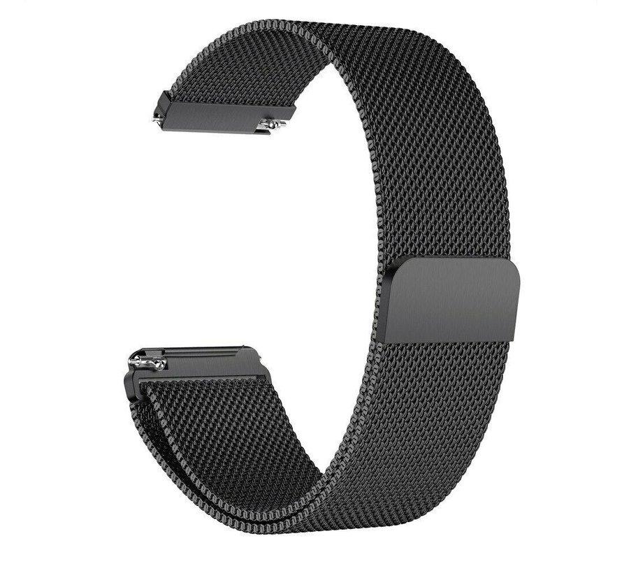 Strap-it® Garmin Vivomove 3s Milanese band - 39mm - zwart