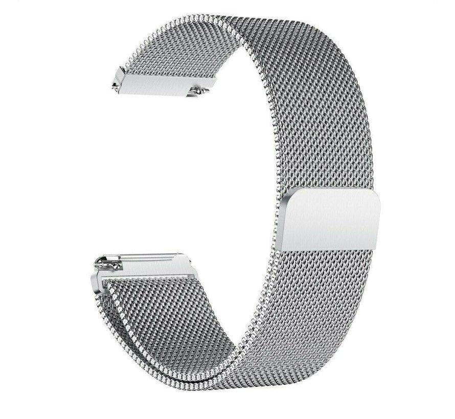 Strap-it® Garmin Vivomove 3s Milanese band - 39mm - zilver