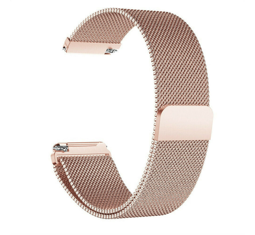 Strap-it® Garmin Vivomove 3s Milanese band - 39mm - rosé goud