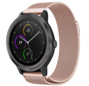 Strap-it® Garmin Vivomove 3s Milanese band - 39mm -rosé goud