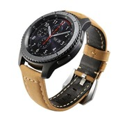 Strap-it® Samsung Galaxy Watch kalfsleren band 45mm / 46mm (beige)