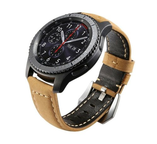 Strap-it® Strap-it® Samsung Galaxy Watch kalfsleren band 45mm / 46mm (bruin)