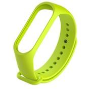 Strap-it® Xiaomi Mi band 3 / 4 siliconen bandje (lime)