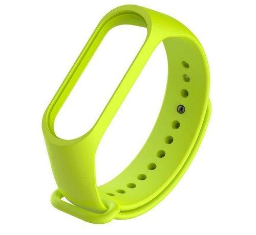 Strap-it® Strap-it® Xiaomi Mi band 3 / 4 siliconen bandje (lime)