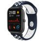 Strap-it® Xiaomi Amazfit GTS sport band (blauw/wit)