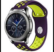 Samsung Gear S3 sport band (paars/geel)