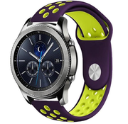 Strap-it® Samsung Gear S3 sport band (paars/geel)