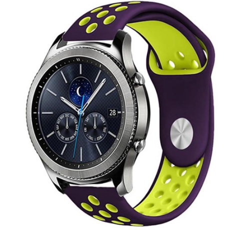 Strap-it® Strap-it® Samsung Gear S3 sport band (paars/geel)