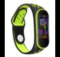 Strap-it® Xiaomi Mi band 5 sport bandje (zwart/groen)