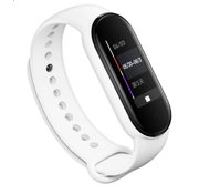 Strap-it® Xiaomi Mi band 5 siliconen bandje (wit)