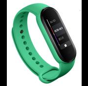 Strap-it® Xiaomi Mi band 5 siliconen bandje (aqua)