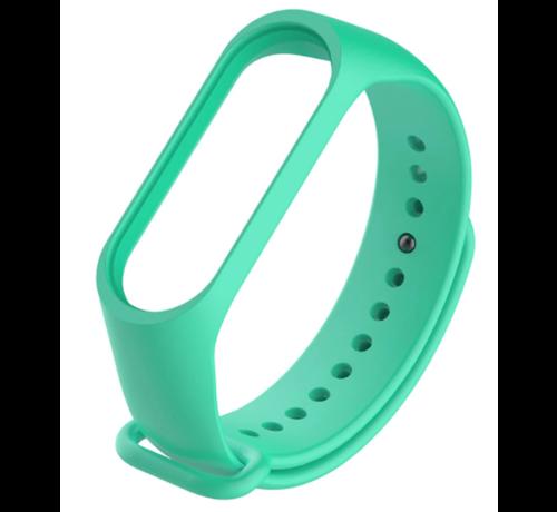 Strap-it® Strap-it® Xiaomi Mi band 3 / 4 siliconen bandje (aqua)