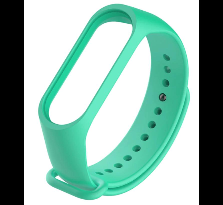 Strap-it® Xiaomi Mi band 3 / 4 siliconen bandje (aqua)