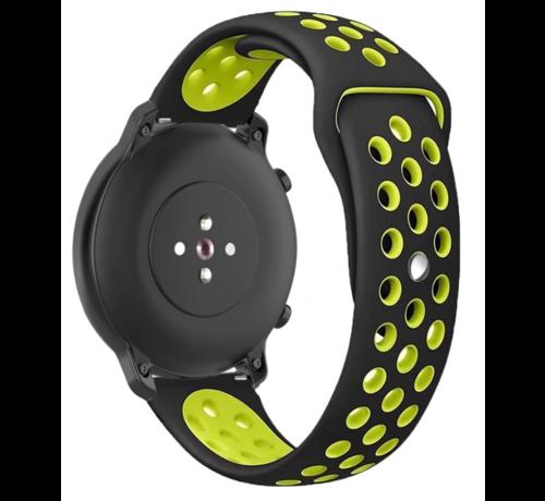 Strap-it® Strap-it® Garmin Vivoactive 4s sport band - 40mm - zwart/geel