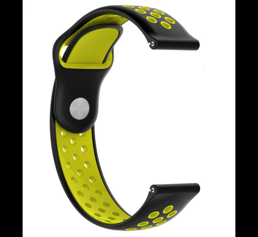 Strap-it® Garmin Vivoactive 4s sport band - 40mm - zwart/geel