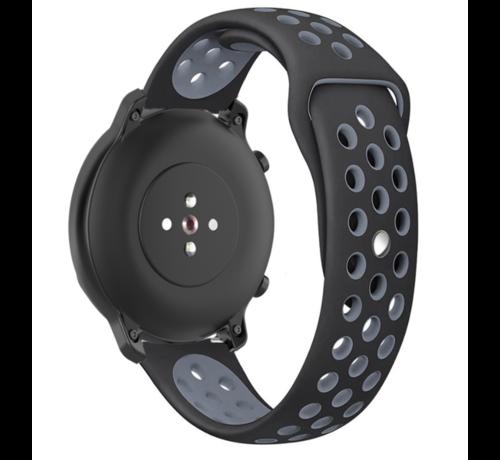Strap-it® Strap-it® Garmin Vivoactive 4s sport band - 40mm - zwart/grijs