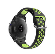 Strap-it® Garmin Fenix 5 / 6 sport band (zwart/geel)