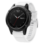 Strap-it® Garmin Fenix 5 / 6 siliconen bandje (wit)