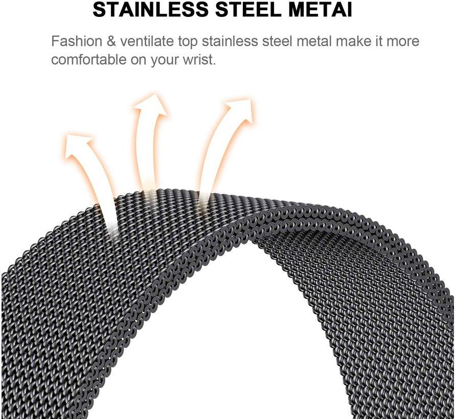 Strap-it® Garmin Fenix 5 / 6 Milanese band (zwart)