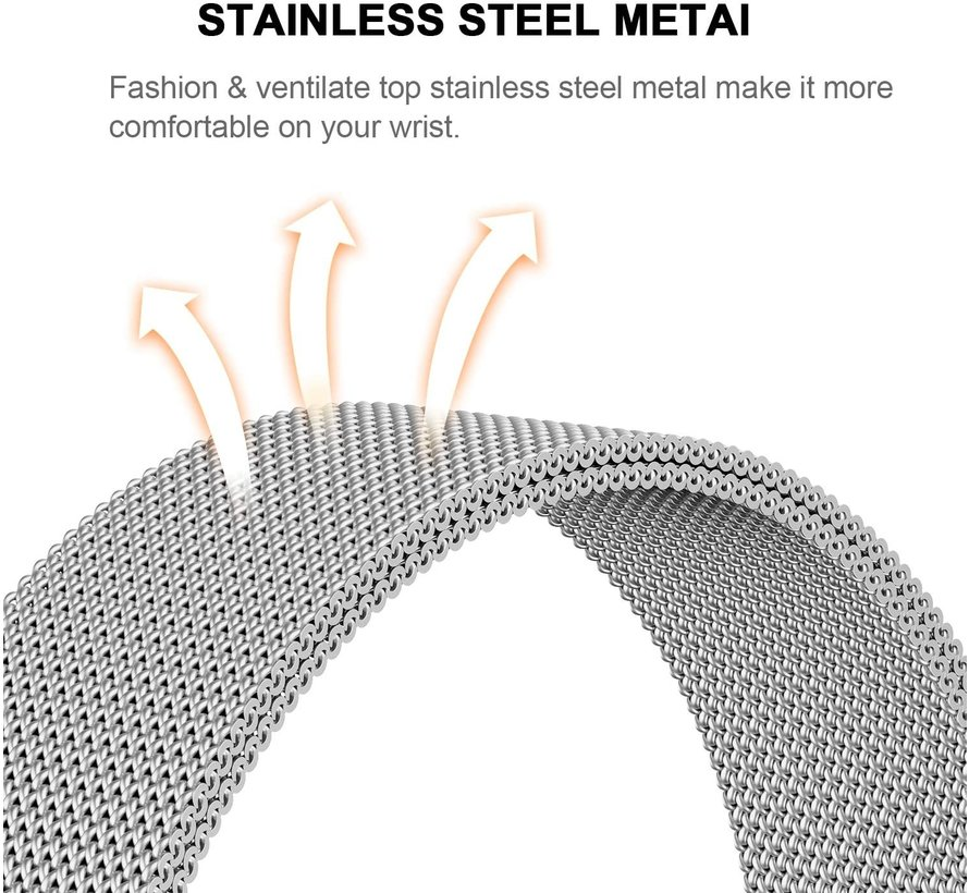 Strap-it® Garmin Fenix 5 / 6 Milanese band (zilver)
