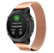 Strap-it® Garmin Fenix 5 / 6 Milanese band (rosé goud)