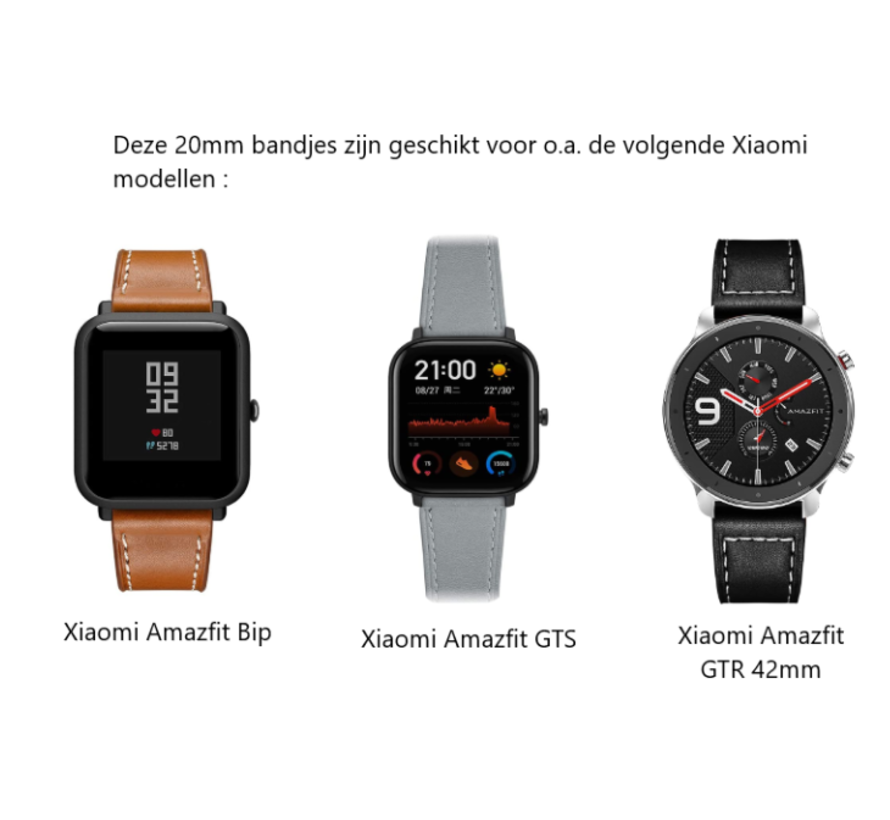 Strap-it® Xiaomi Amazfit Bip silicone band (zwart)