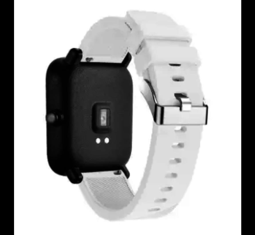 Strap-it® Xiaomi Amazfit GTS silicone band (wit)